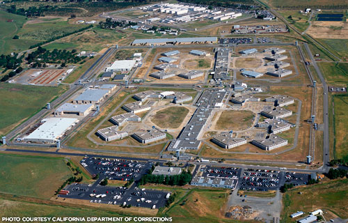 Aerial photo of Solano Prison
